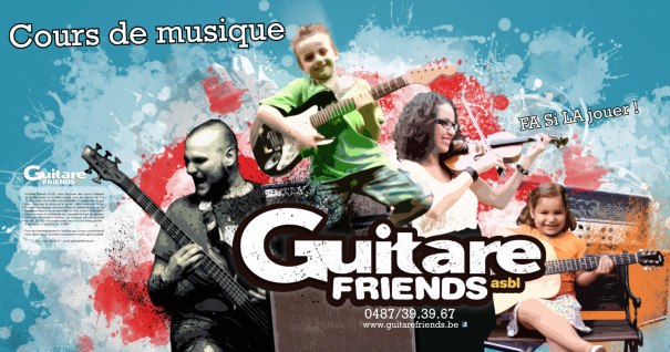 Vitrine de Guitare Friends